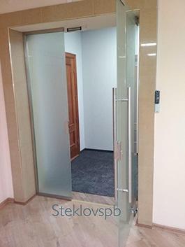 Стеклянные двери, матовое стекло