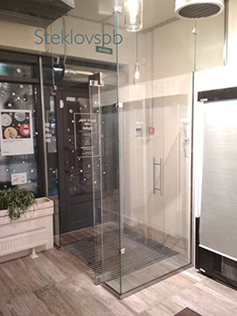 Тамбур, стекло прозрачное