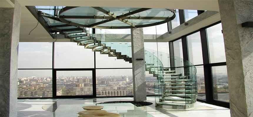 Стеклянные лестницы 25