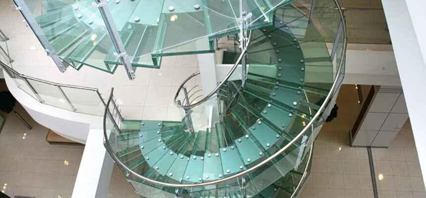 Стеклянные лестницы 20