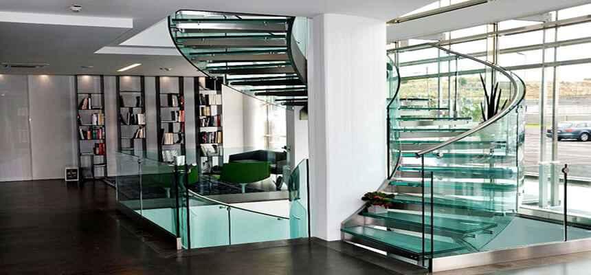 Стеклянные лестницы 21