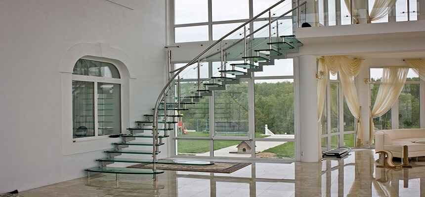 Стеклянные лестницы 22