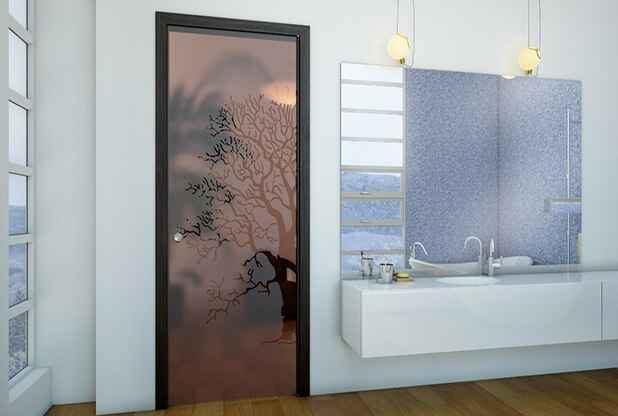 Распашные стеклянные двери 3